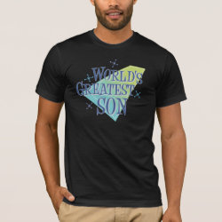 Men's Basic American Apparel T-Shirt with World's Greatest Son design