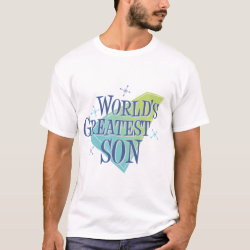Men's Basic T-Shirt with World's Greatest Son design