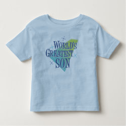 Toddler Fine Jersey T-Shirt with World's Greatest Son design