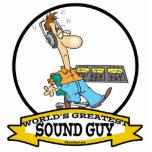 WORLDS GREATEST SOUND GUY MEN CARTOON ACRYLIC CUT OUT