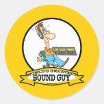 WORLDS GREATEST SOUND GUY MEN CARTOON STICKER