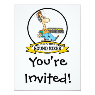 WORLDS GREATEST SOUND MIXER MEN CARTOON CARD