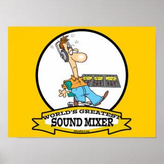 WORLDS GREATEST SOUND MIXER MEN CARTOON PRINT
