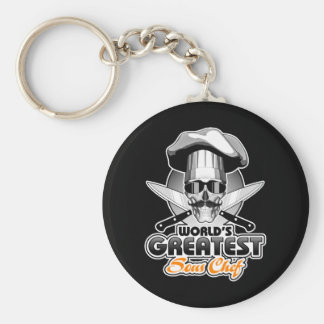 World's Greatest Sous Chef v4 Basic Round Button Keychain