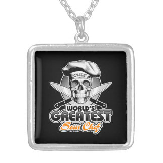 World's Greatest Sous Chef v5 Silver Plated Necklace