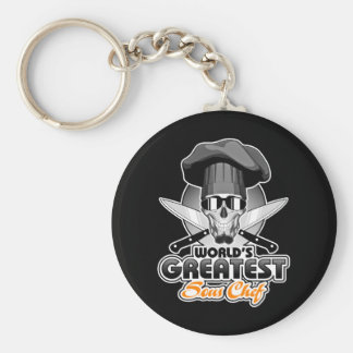 World's Greatest Sous Chef v7 Basic Round Button Keychain