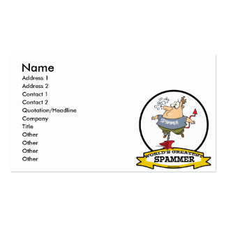 WORLDS GREATEST SPAMMER CARTOON BUSINESS CARD
