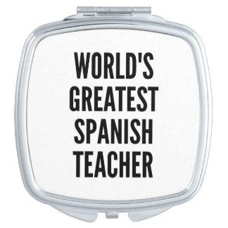Worlds Greatest Spanish Teacher Compact Mirror