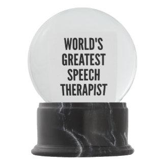 Worlds Greatest Speech Therapist Snow Globes