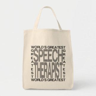 Worlds Greatest Speech Therapist Tote Bag