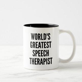 Worlds Greatest Speech Therapist Two-Tone Coffee Mug