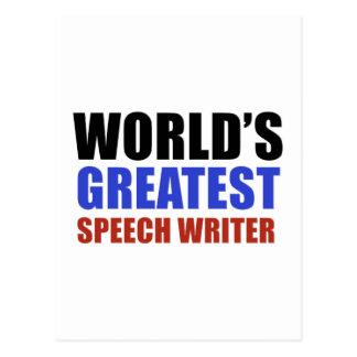 World's greatest SPEECH WRITER. Postcard