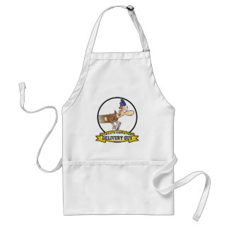 WORLDS GREATEST SPEEDY DELIVERY GUY MEN CARTOON APRONS