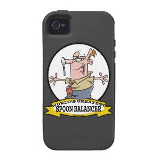 WORLDS GREATEST SPOON BALANCER CARTOON iPhone 4/4S CASE