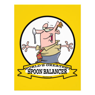 WORLDS GREATEST SPOON BALANCER CARTOON FLYER