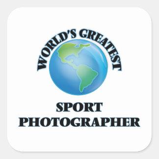 World's Greatest Sport Photographer Square Sticker