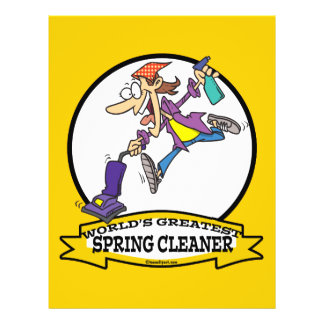 WORLDS GREATEST SPRING CLEANER WOMEN CARTOON FLYER