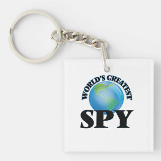 World's Greatest Spy Square Acrylic Keychains