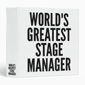 Worlds Greatest Stage Manager Binder
