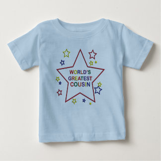 Worlds Greatest Star Cousin Blue Infant T-shirt