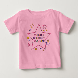 Worlds Greatest Star Cousin Pink Infant T-shirt