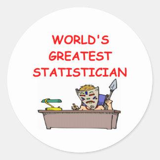 world's greatest statistician classic round sticker