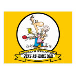 WORLDS GREATEST STAY AT HOME DAD CARTOON POSTCARD