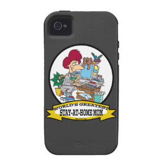 WORLDS GREATEST STAY AT HOME MOM CARTOON iPhone 4 COVER