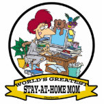 WORLDS GREATEST STAY AT HOME MOM CARTOON PHOTO CUTOUT