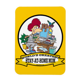 WORLDS GREATEST STAY AT HOME MOM CARTOON VINYL MAGNETS