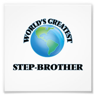 World's Greatest Step-Brother Photo Print