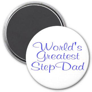 Worlds Greatest Step Dad 3 Inch Round Magnet