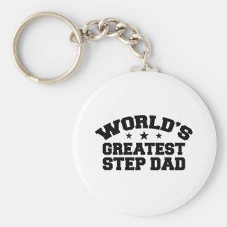 World's Greatest Step Dad Basic Round Button Keychain