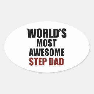 World's Greatest Step dad Oval Sticker