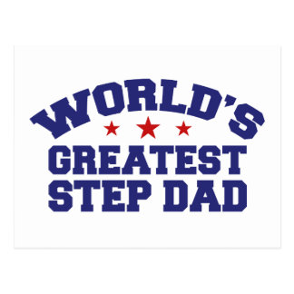 World's Greatest Step Dad Post Cards