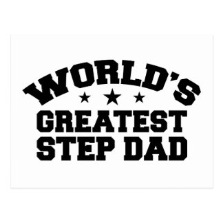 World's Greatest Step Dad Postcard