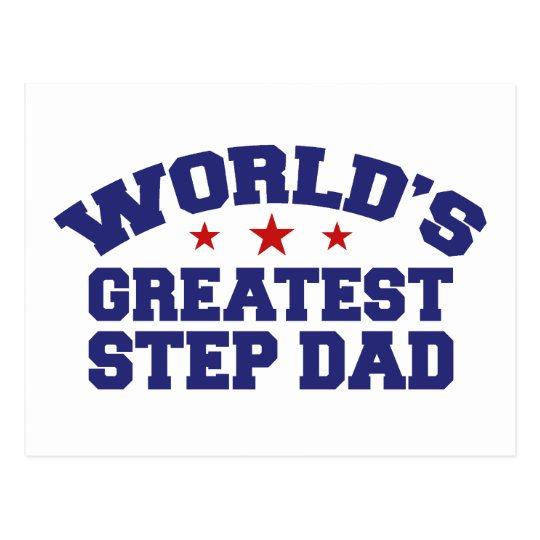 World's Greatest Step Dad Postcard
