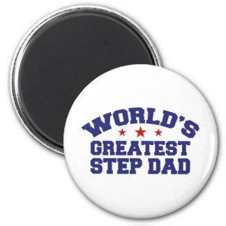 World's Greatest Step Dad Refrigerator Magnets