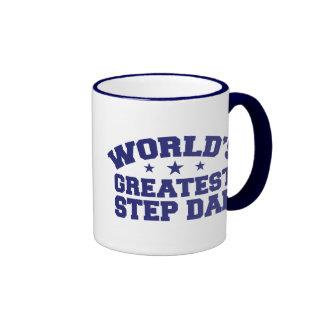 World's Greatest Step Dad Ringer Mug
