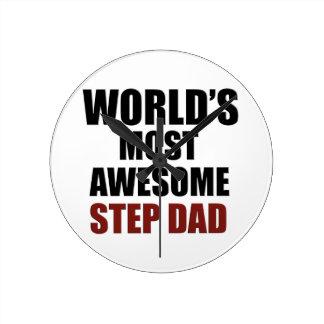 World's Greatest Step dad Round Clock