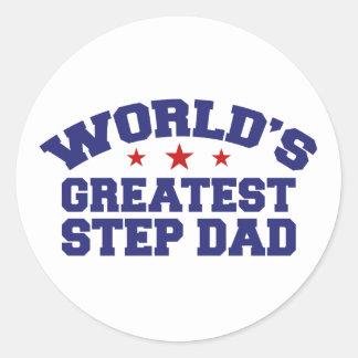 World's Greatest Step Dad Round Stickers