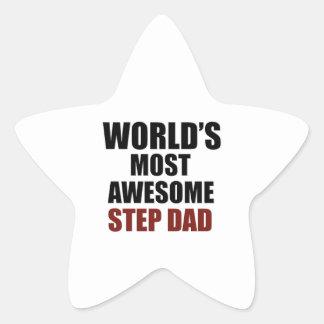 World's Greatest Step dad Star Sticker