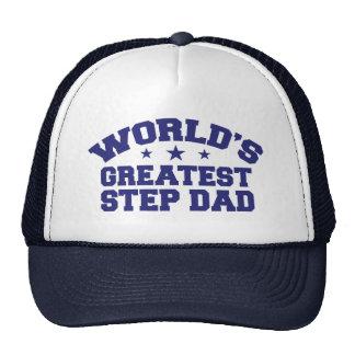 World's Greatest Step Dad Trucker Hats