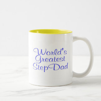 Worlds Greatest Step Dad Two-Tone Coffee Mug