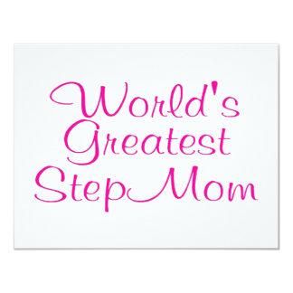 Worlds Greatest Step Mom 4.25x5.5 Paper Invitation Card