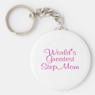 Worlds Greatest Step Mom Keychains