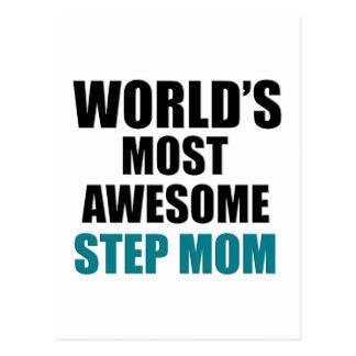 World's Greatest Step mom Postcard