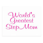 Worlds Greatest Step Mom Postcard