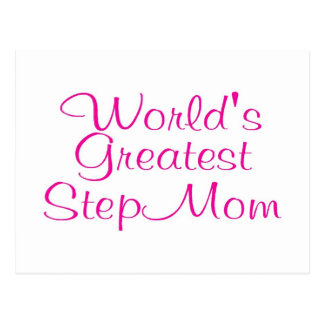 Worlds Greatest Step Mom Post Cards