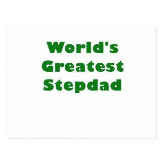 Worlds Greatest Stepdad Postcard
